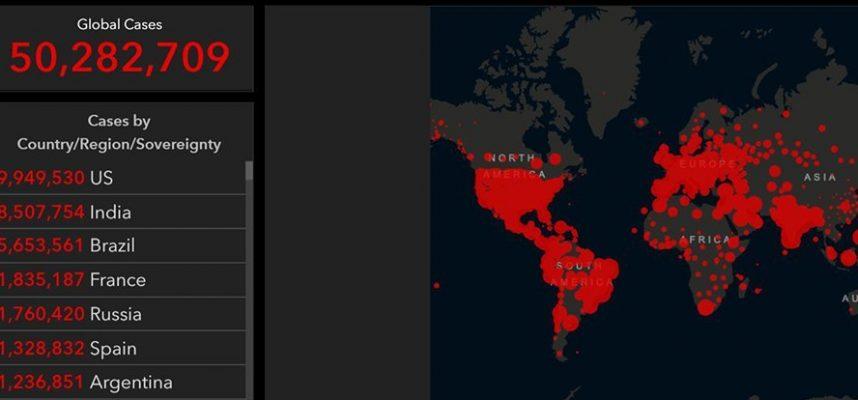 Это официально. В мире зарегистрировано 50 миллионов подтвержденных случаев коронавируса