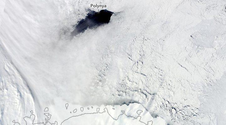 Ученые выяснили, что создает аномально гигантские дыры во льдах Антарктики