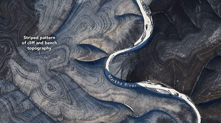 НАСА озадачено появлением странных геологических полос в России