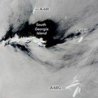Огромный и печально известный айсберг A68, полностью растаял
