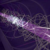 Иллюстрация атома антиводорода в ловушке.