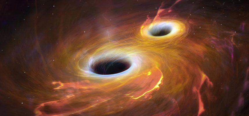 Сногсшибательная визуализация НАСА показывает столкновение черных дыр
