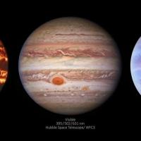Невероятные снимки Юпитера на разных длинах световых волн