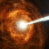 Колоссальная вспышка первое доказательство, что энергия может исходить из черных дыр