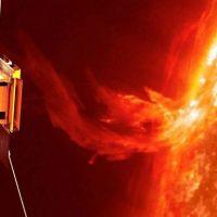 Космический корабль впервые зафиксировал мощное извержение с поверхности Солнца